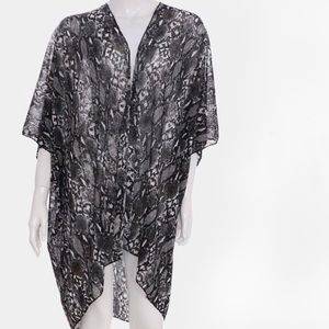Other - One Left! Snakeskin Print Kimono Cover Up